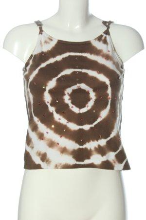 s.Oliver Camisola marrón-blanco estampado temático look casual