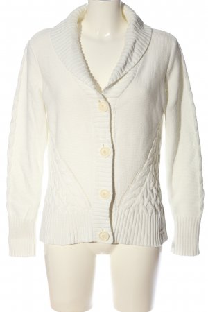 s.Oliver Cardigan weiß Zopfmuster Casual-Look