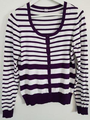 s.Oliver Cardigan white-dark violet