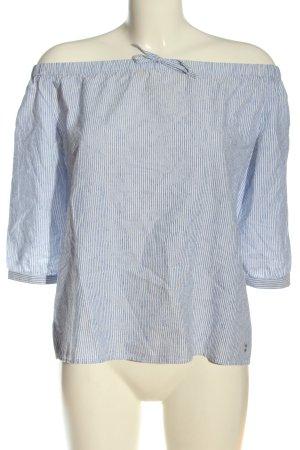 s.Oliver Bluzka typu carmen niebieski-biały Wzór w paski W stylu casual