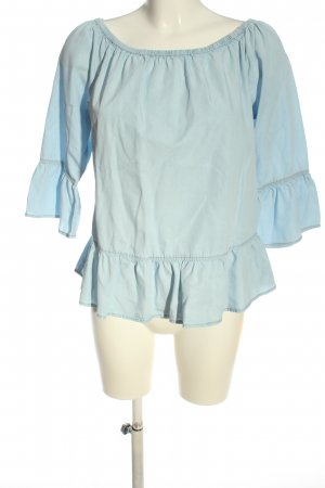 s.Oliver Blusa tipo Carmen azul look casual