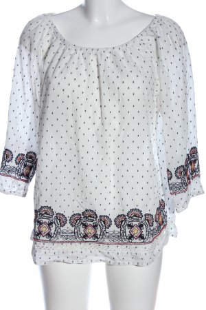 s.Oliver Carmen-Bluse grafisches Muster Casual-Look