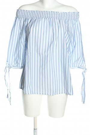 s.Oliver Carmen Blouse blue-white striped pattern casual look