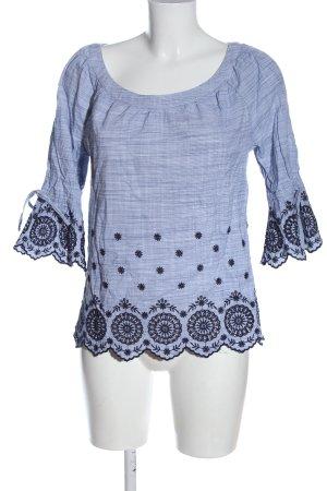 s.Oliver Carmen Blouse blue graphic pattern elegant