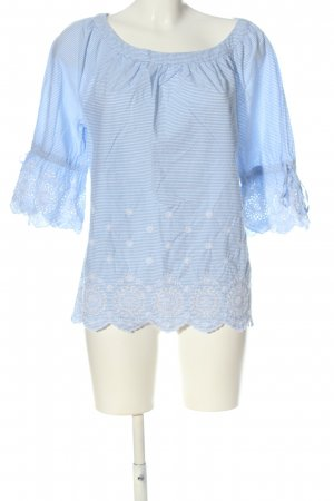 s.Oliver Carmen Shirt blue-white striped pattern casual look
