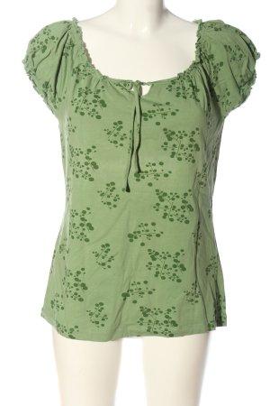 s.Oliver Carmen shirt groen prints met een thema casual uitstraling