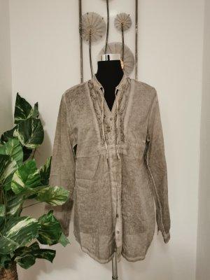 S.Oliver Casual Clothing Damen Bluse Langarmhemd Vintage Look Größe 44