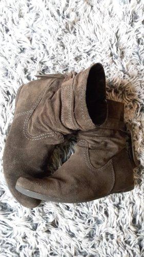 s.Oliver Casual Damen Stiefeletten Boots Echtleder Grau/Graphite EU 39