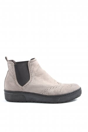 s.Oliver Chelsea Boots wollweiß Animalmuster Casual-Look