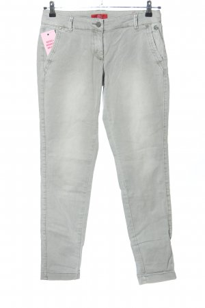 s.Oliver Chinohose hellgrau Casual-Look