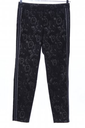 s.Oliver Chinohose schwarz Blumenmuster Casual-Look