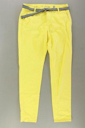 s.Oliver Chinohose Größe Kurzgröße 38 gelb aus Baumwolle