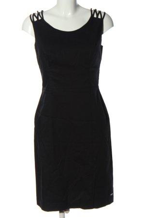s.Oliver Vestido de cóctel negro elegante