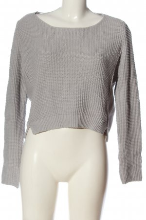 s.Oliver Cropped Pullover hellgrau Casual-Look
