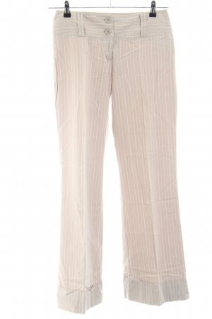 s.Oliver Culottes creme-weiß Schriftzug gestickt Business-Look