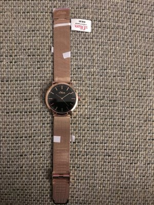 s. Oliver (QS designed) Analog Watch black-sand brown