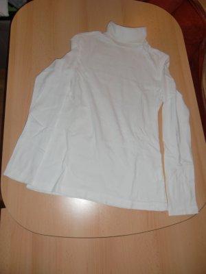 s.Oliver Camisa de cuello de tortuga blanco tejido mezclado