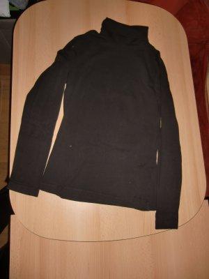 s.Oliver Koszulka z golfem ciemnobrązowy Tkanina z mieszanych włókien