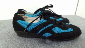 S. Oliver Damen Sneaker Turnschuhe Velour schwarz blau Größe 37