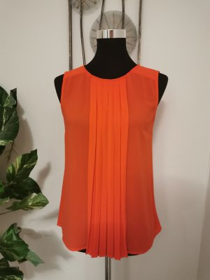 S.Oliver Damen Tunikashirt Chiffonshirt orange Shirt Größe 36 wie NEU