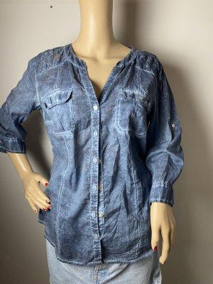 s.Oliver Blouse Shirt slate-gray mixture fibre