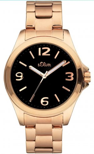 s.Oliver Watch With Metal Strap rose-gold-coloured