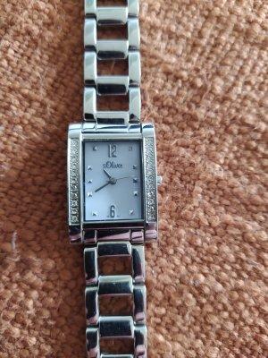 s. Oliver (QS designed) Reloj con pulsera metálica blanco-color plata metal