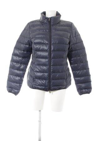 s.Oliver Daunenjacke blau-weiß Punktemuster Street-Fashion-Look