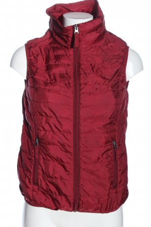 s.Oliver Daunenweste rot Steppmuster Casual-Look