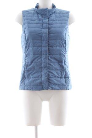 s.Oliver Gilet en duvet bleu motif de courtepointe style décontracté