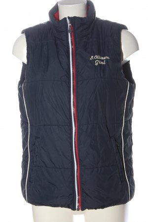 s.Oliver Down Vest blue embroidered lettering casual look