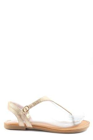 s.Oliver Dianette sandalen goud casual uitstraling