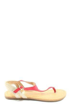 s.Oliver Sandalias Dianette rojo-blanco look casual