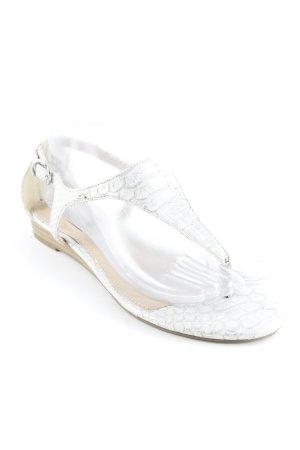 s.Oliver Dianette Sandals silver-colored-white reptile print