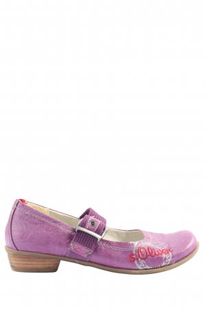 s.Oliver Chaussures Mary Jane rose style décontracté