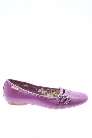 s.Oliver Bailarinas plegables lila estampado temático look casual