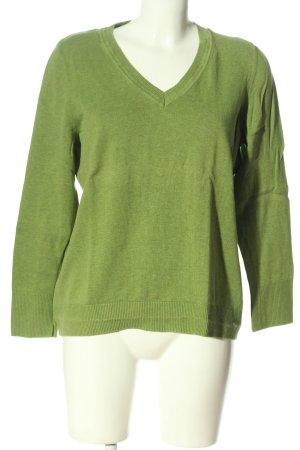 s.Oliver Feinstrickpullover grün meliert Casual-Look