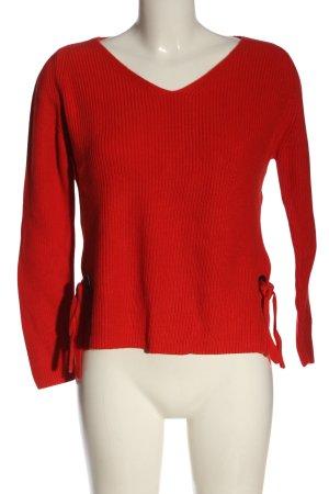 s.Oliver Cienki sweter z dzianiny czerwony W stylu casual