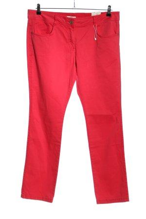 s.Oliver Spodnie z pięcioma kieszeniami czerwony W stylu casual