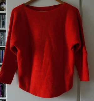 s.Oliver flauschiger Pullover orange Gr. 36 (S) Strickpullover