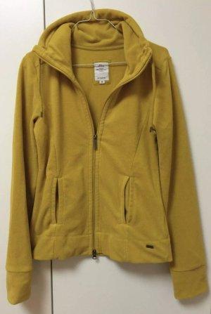 s.Oliver Fleece-Jacke mit Reißverschluss, fröhliches gelb, warm, Größe 36