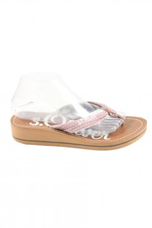 s.Oliver Flip-Flop Sandals brown-pink casual look