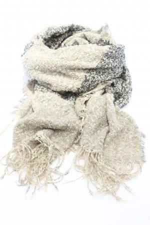s.Oliver Fringed Scarf light grey-natural white flecked casual look