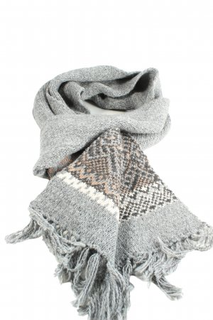s.Oliver Fringed Scarf abstract pattern casual look