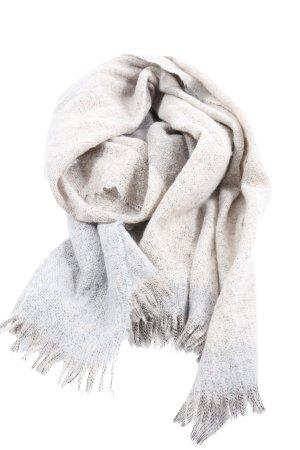 s.Oliver Sciarpa con frange crema-grigio chiaro puntinato stile casual