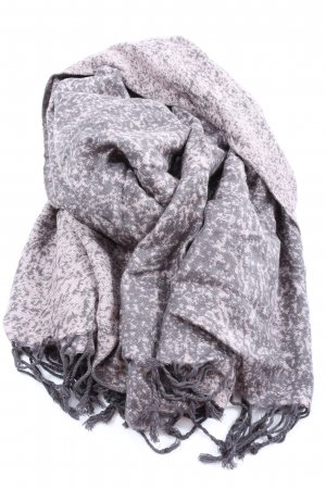 s.Oliver Fringed Scarf light grey-white casual look