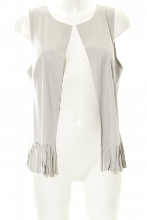 s.Oliver Fringed Vest light grey country style