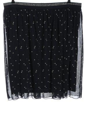 s.Oliver Glockenrock schwarz-weiß Punktemuster Casual-Look