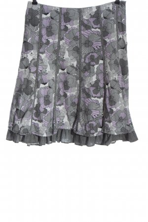 s.Oliver Flared Skirt light grey-lilac allover print casual look