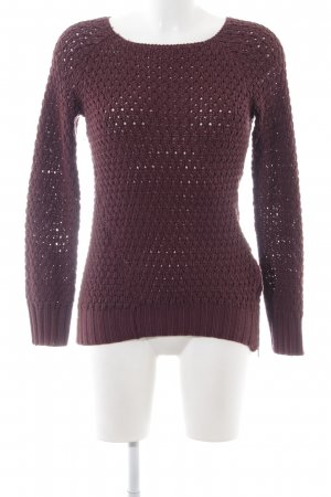 s.Oliver Grobstrickpullover rot Zopfmuster Casual-Look